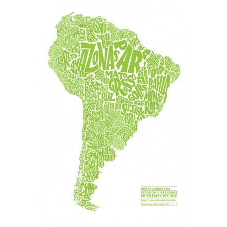 Serigrafía, Mapa América del Sur