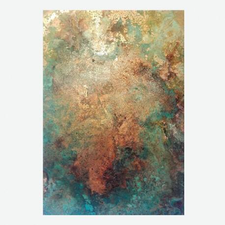 Lámina de cobre oxidado