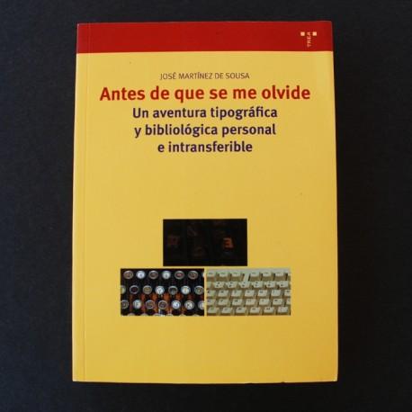 ANTES DE QUE SE ME OLVIDE